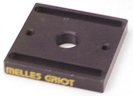 MELLES GRIOT SQUARE SLOTTED MOUNTING BASE