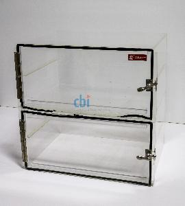 LAMINAIRE TWO COMPARTMENT DESICCATOR BOX